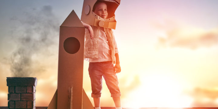 子供とロケット
