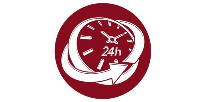 ぐるりと矢印に囲まれた時計
