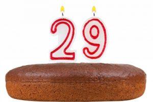 29歳の誕生日ケーキ