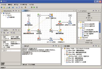 Dr.Sum EA Connect データフロー定義サンプル画面