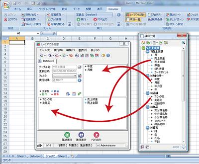 Dr.Sum Excel 集計サンプル画面